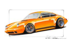 Orange Porsche