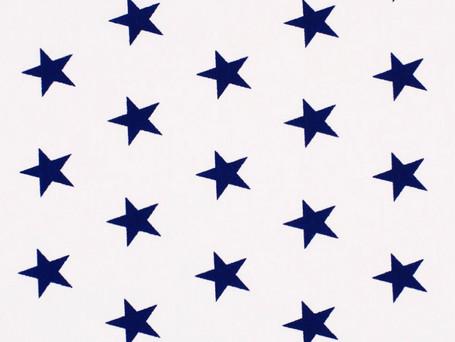Etoiles bleues sur fond blanc