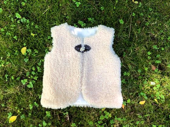 Gilet mouton, T 2-3 ans
