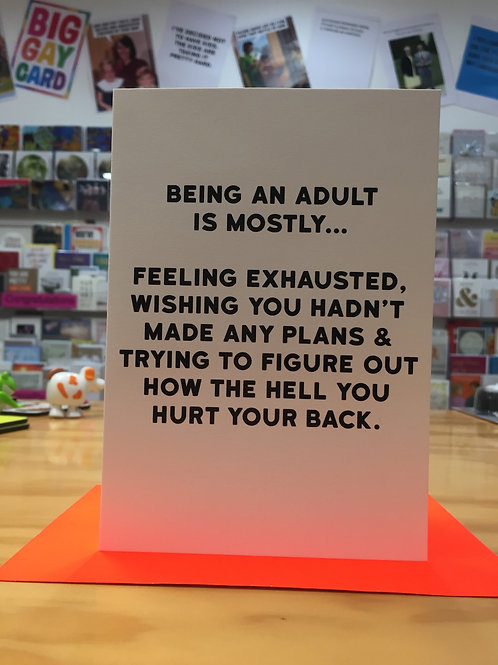 Being an adult