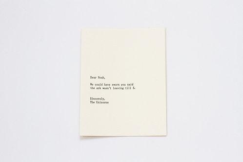Dear Noah