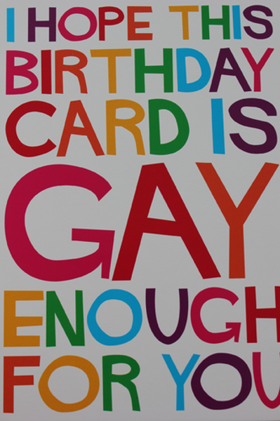 Gay enough for you