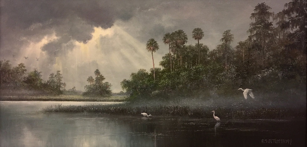 Florida Misty Morning Highwaymen Painting.jpeg