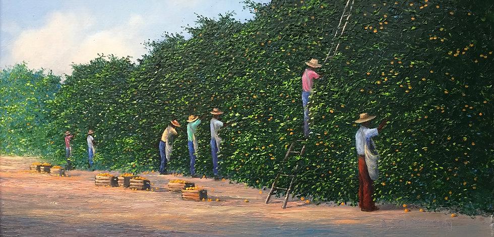 Florida Orange Grove Pickers Highwaymen Painting.JPG
