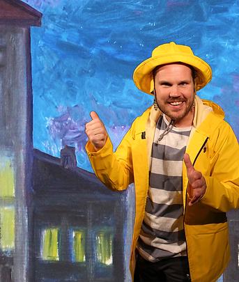 Bild från föreställningen Kotten och stormen