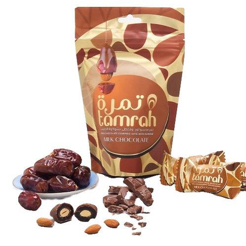 Milk Chocolate Covered Almond Stuffed Dates