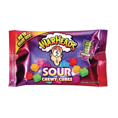 Warheads Sour Chewy Cubes - [70g]