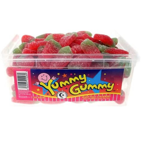 Giant Fizzy Strawberries - [120 strawberries]