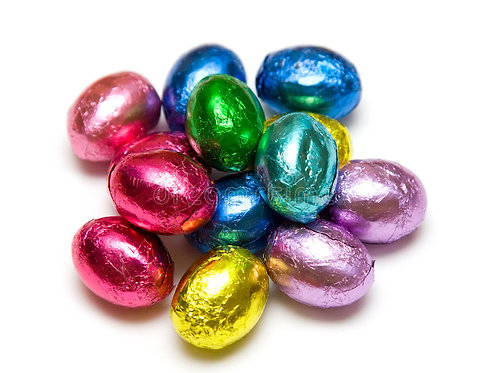 Chocolate Flavoured Foiled Eggs