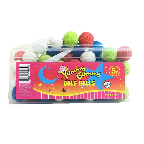 Coloured Golf Balls Bubblegum Tub