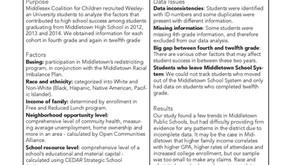Exploring Factors for High School Success in Middletown School District