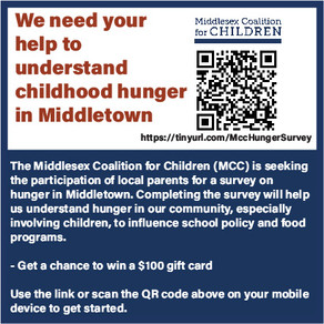 Parents: Take the Childhood Hunger Survey!