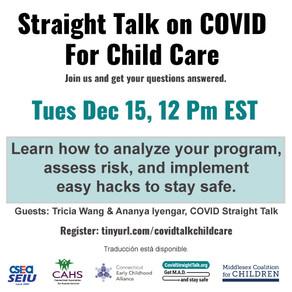 COVID STRAIGHT TALK FOR CHILDCARE