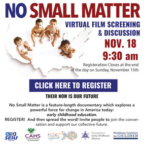 No Small Matter Film Screening & Discussion