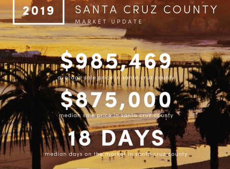 Market Update! Santa Cruz County – August 2019