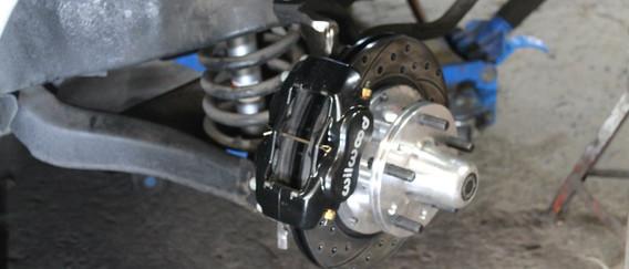 L'ensemble de freins est installé.