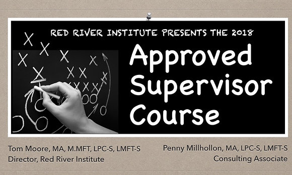 2019 Approved Supervisor Course