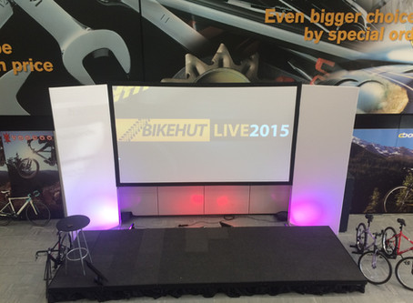 Halford Bike Hut Live - Converts a store to a conference venue