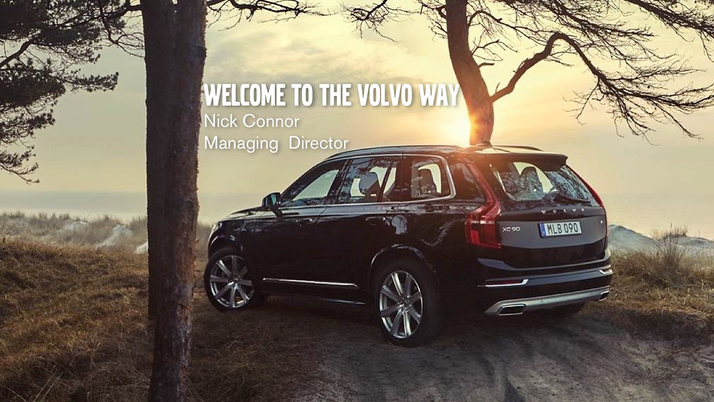 The Volvo way name slide presentation design