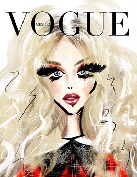 Today's prompt is Vogue cover so natural
