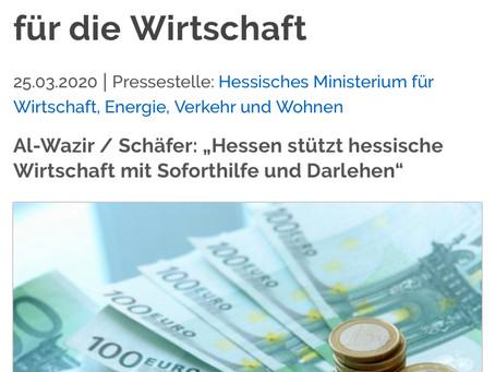 Soforthilfe und Darlehen für Unternehmen und Solo-Selbstständige in Hessen