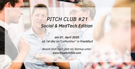 """Pitch Club #21 Social & MedTech Edition"""
