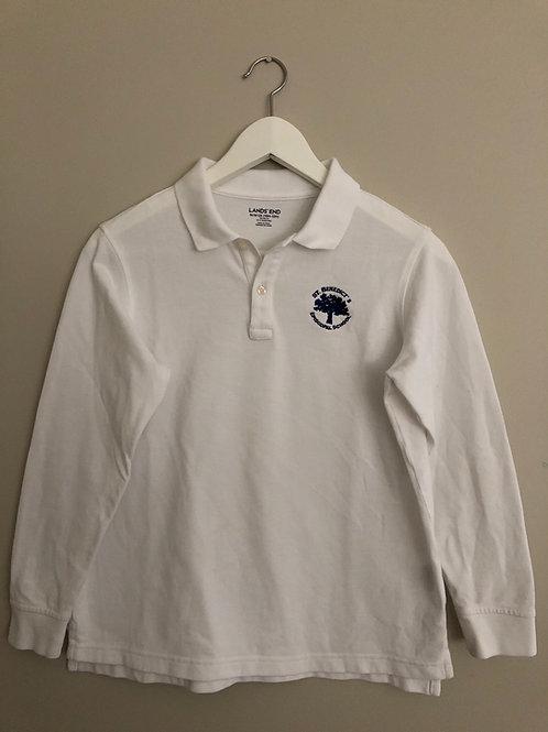 Long-sleeve Polo Unisex (white)