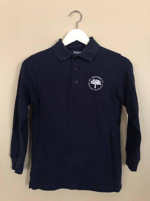 Navy Long-sleeve Parker Polo