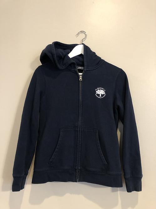 Navy zip up sweater with hoodie