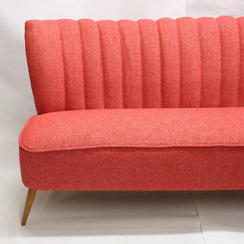 RED SOFA#canapé vintage