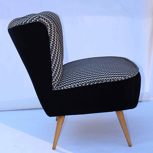BLACK DESIRE#Fauteuil cocktail sans accoudoir