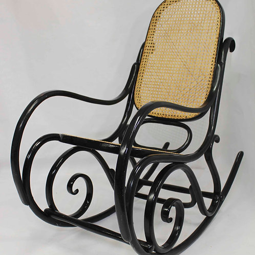 THONET#rocking chair cannée