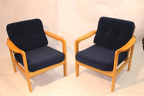 BLUE NIGHT#fauteuil scandinave vintage