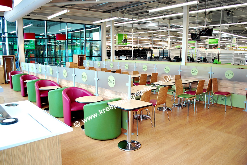 Asda Cafe Retail Interior Photography by www.kre8photographic.co