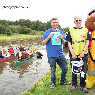 Canal & River Trust Staff & RNLI Volunteers at Botany Bay Fest Chorley
