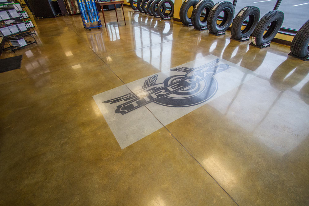 Tiremax, Logo Stained & Polished
