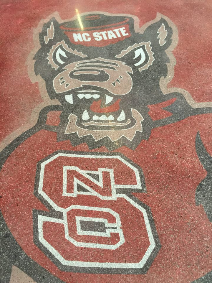 Wolfpack Logo Stained & Polished