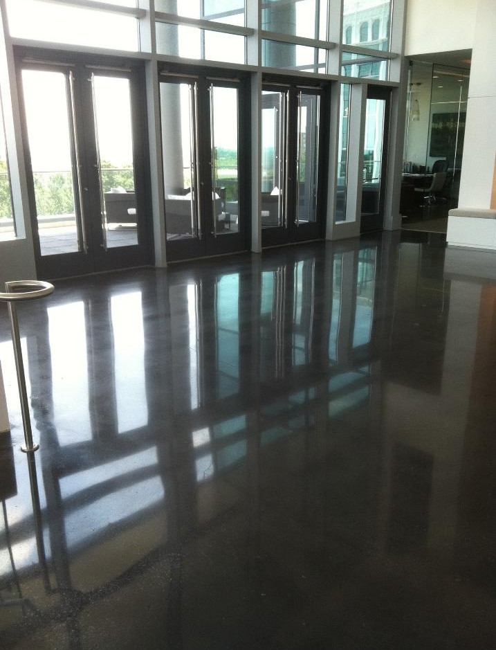 Job Name, Stained [COLOR] & Polished Concrete