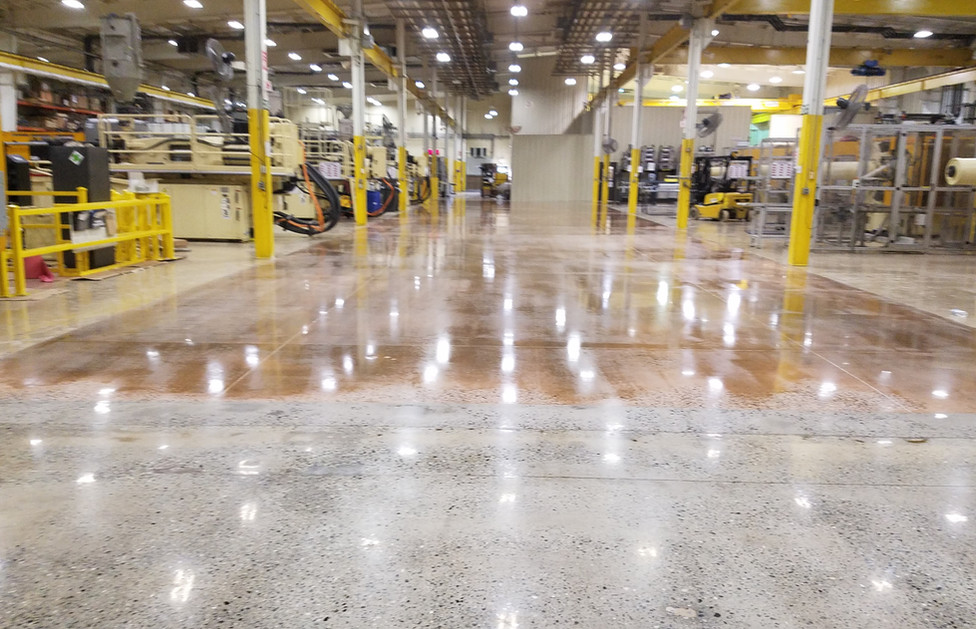 Plastics Recycling Facility, Stain Application