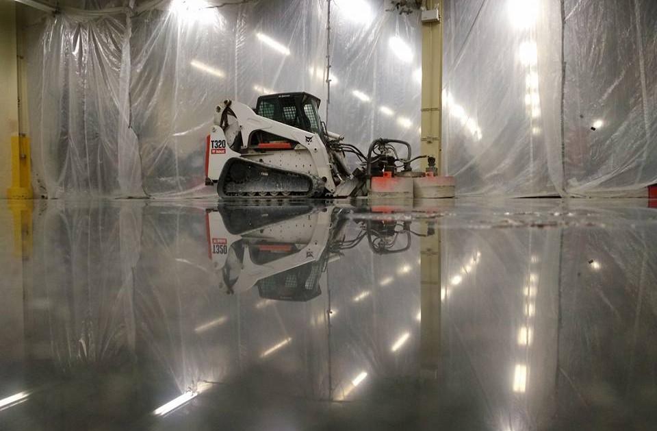 Polishing Facility with Skid Steer