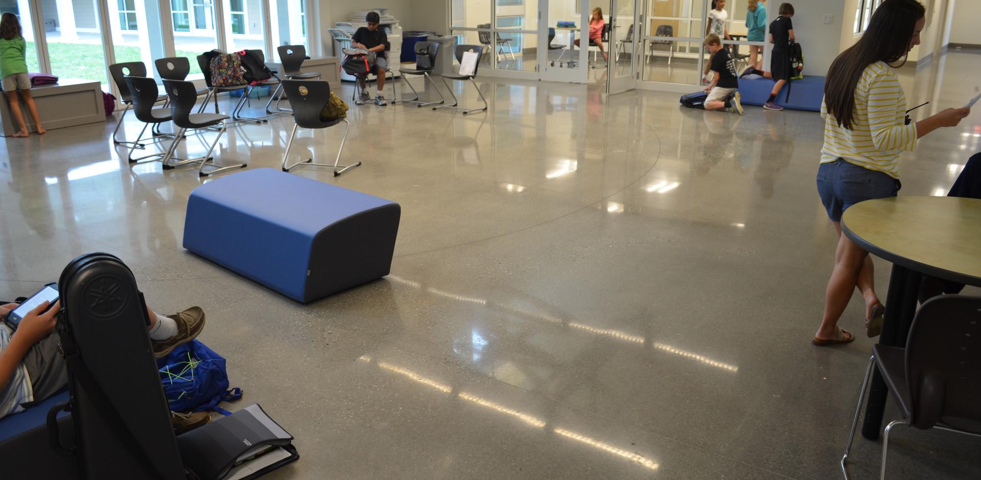 Greensboro Day School, Polished Concrete