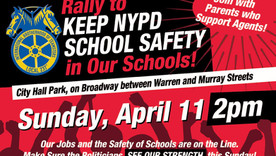 Rally To Keep Safety Agents in New York City Schools