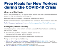 Free Meals For New Yorkers During Covid