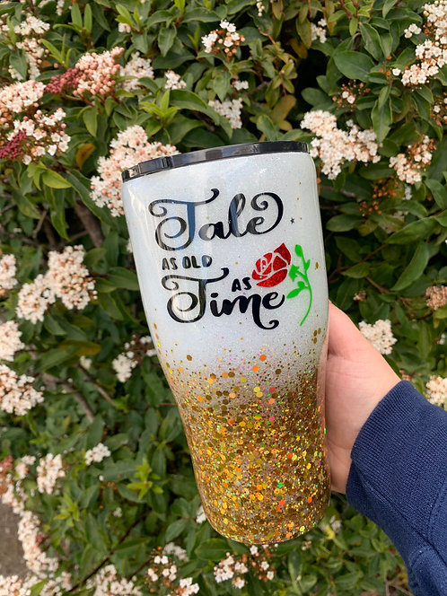 Tale As Old As Time Glitter Tumbler