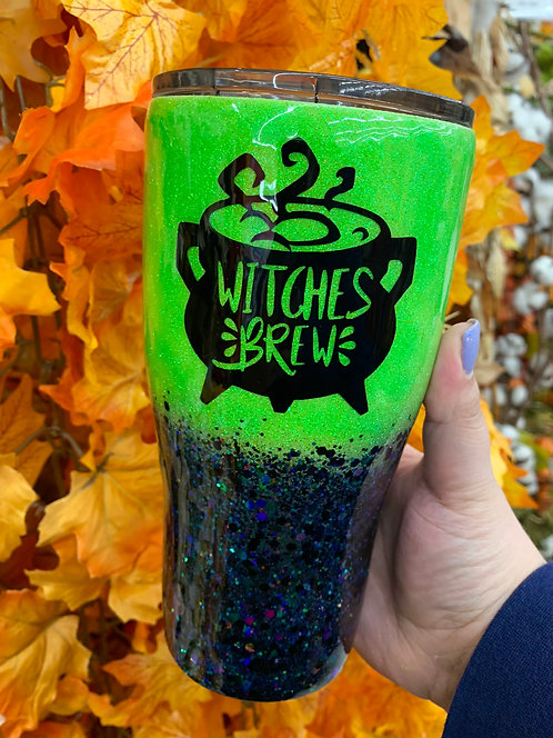 Witches Brew Glitter Tumbler