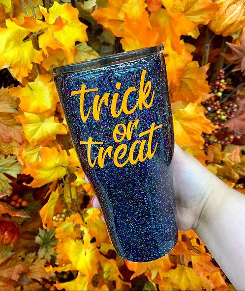 Trick or Treat Glitter Tumbler