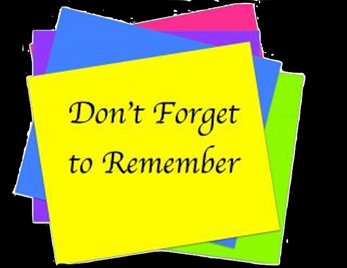Don't forget to remember… December 18