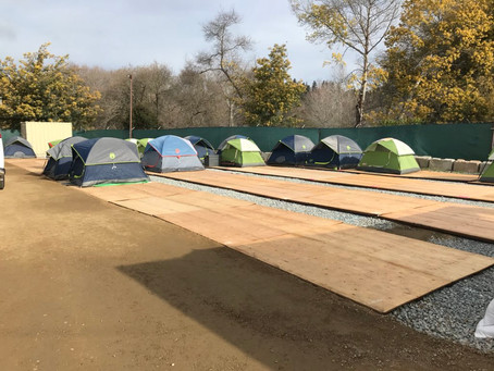 A tale of two [tent] cities