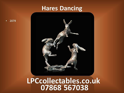 2079 three hares dancing by Butler & Peach