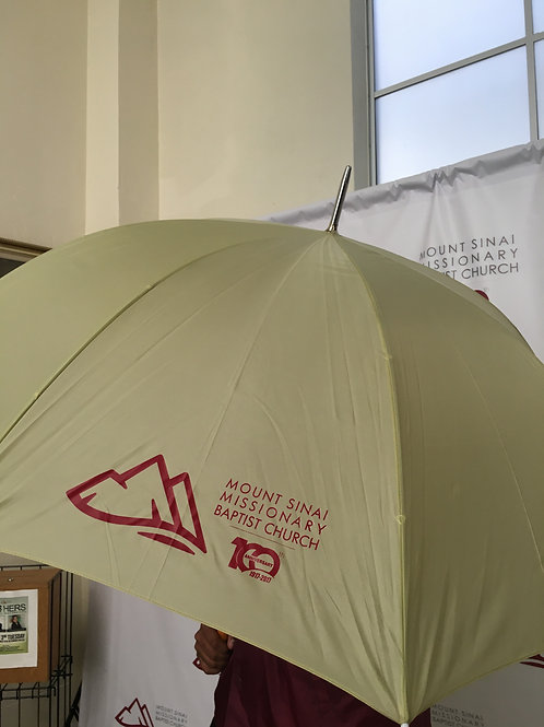 "Khaki 60"" Golf Umbrella"